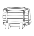 Barrel of wine icon in outline style isolated on vector image vector image