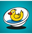 basin with a duck vector image vector image