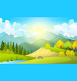 beautiful summer fields vector image