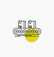 belt box conveyor factory line line icon vector image vector image