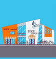 bike shop in flat style vector image vector image