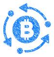 bitcoin rotation arrows grunge icon vector image vector image