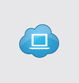 Blue cloud laptop icon vector image