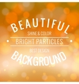 Bright background with lights vector image