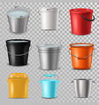 bucket bucketful and bitbucket plastic pail vector image