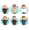 businessman mascot professional hand gestures vector image