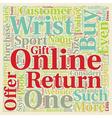 Buy Watches Online text background wordcloud vector image vector image