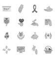 Charity organization icons set vector image vector image
