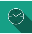 Clock icon with long shadow vector image vector image