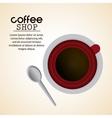 Coffee mug cup spoon shop beverage icon vector image vector image