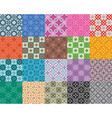 collection moroccan mosaic seamless patterns vector image