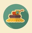 combine harvester flat icon vector image
