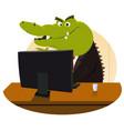 crocodile bankster vector image