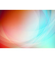 curved abstract on colorful background vector image