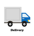 delivery car icon design stock vector image vector image