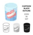 denturesold age single icon in cartoon style vector image vector image