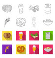 design of pub and bar icon set of pub and vector image vector image