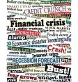 financial crisis headlines vector image