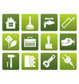 Flat construction and do it yourself icons vector image vector image