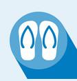 flip flop icon vector image