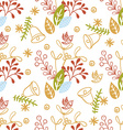 Floral Christmas Background vector image vector image