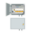 fuse box electrical power switch panel vector image
