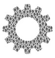 gear wheel collage of infection cell icons vector image