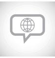 Globe grey message icon vector image vector image