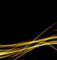 Golden swoosh smooth soft satin futuristic vector image vector image