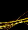 Golden swoosh smooth soft satin futuristic vector image