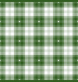 green and white tartan plaid seamless pattern vector image vector image