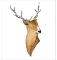 Hand drawn cartoon deer header vector image