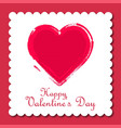 happy valentines day card with pink frame vector image