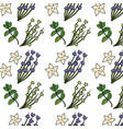 herbs and spices plants and organ food background vector image vector image