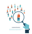 human resource vector image vector image