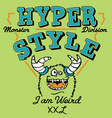 hyper style weird monster vector image vector image