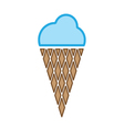 ice cream colored vector image vector image