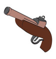 image of an old dueling pistol vector image