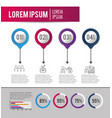 infographic business strategy plan information vector image vector image