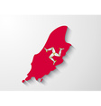 Isle of Man country map with shadow effect vector image vector image