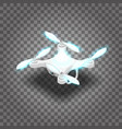 isometric drone quadrocopter 3d vector image