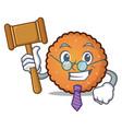 judge cookies mascot cartoon style vector image vector image