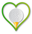 love golf vector image vector image