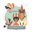 masquerade woman with carnival horse vector image vector image