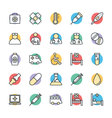 Medical and Health Cool Icons 1 vector image vector image
