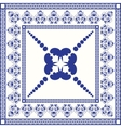 Mediterranean traditional blue and white tile vector image vector image