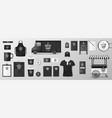 mockup set for coffee shop cafe or restaurant vector image