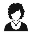 New woman avatar simple icon vector image