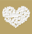 Office notes heart vector image vector image