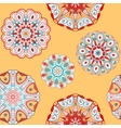 Oriental seamless pattern with circle ornaments vector image vector image